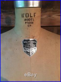 Vintage 1972 WOLF NY Model Dress FORM Size 8 Women Mannequin Cast Iron Base