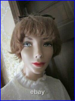 Vintage 6 ft. Tall female store mannequin composite & wood dressed GC