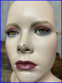 Vintage 80s El2 Greneker Vine Female Torso Display Distressed Bust Mannequin