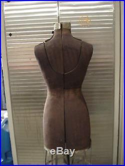 Vintage ACME Dress Form Size A L&M Adjustable Victorian Cast Iron Base