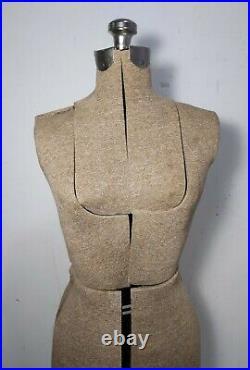 Vintage Antique Adjustable Dress Form Mannequin Cast Iron Base/Stand (Acme)