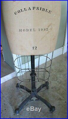 Vintage Antique Wolf Form Co. Mannequin Dress Form model 1982 #12