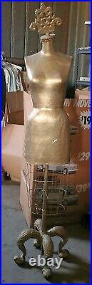 Vintage Cast Iron Villager Clothing Mannequin Dress Form