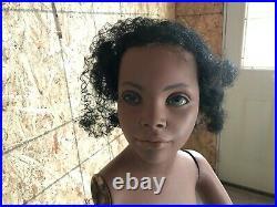 Vintage Child Adolescent African American Mannequin Black Americana