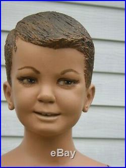 Vintage Child Mannequin standing Boy 44 Tall