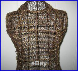 Vintage Dress Form Wire Mannequin Metal Gold Gilt Scrollwork