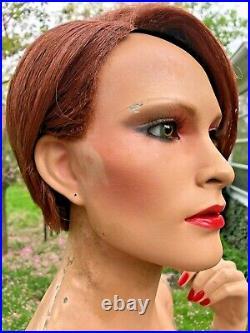 Vintage Female Mannequin Full Realistic Glass Eyes GRENEKER 1980's