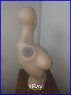 Vintage Female Mannequin Torso big boob nipples nipple boobs large breasts
