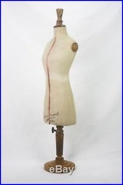 Vintage French Miniature Table Top Mannequin Dress Form ca1920