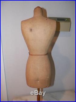 Vintage French Stockman Paris Table Top Small Dress Form Mannequin 28 Petite