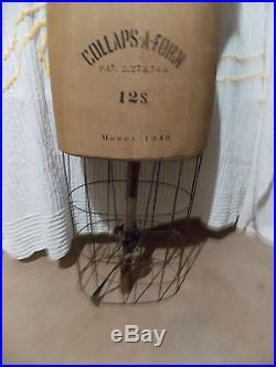 Vintage JR Bauman Collaps A Form 12 S Model 1949 Dress Form