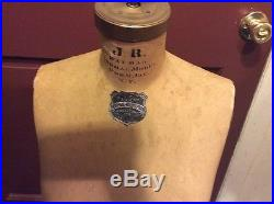 Vintage JR Bauman Dress Form Size 12 Antique Store Display Mannequin
