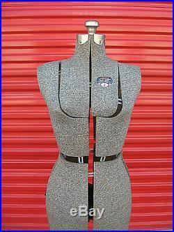 Vintage L & M Acme Adjustable Dress Form Size A Mannequin Fashion Sewing Display
