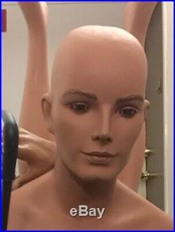 Vintage Male 50's 60's Mannequin Complete Glass Eyes EXCL Condition Original