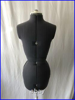 Vintage Mannequin Adjustable Dress Form with Stand (Small, Woman) Seamstress