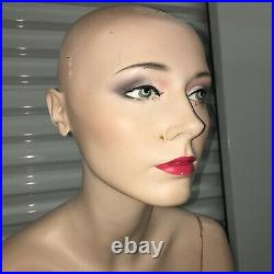 Vintage Mannequin Female Sitting Seated Full Body Realistic Life Size Vtg
