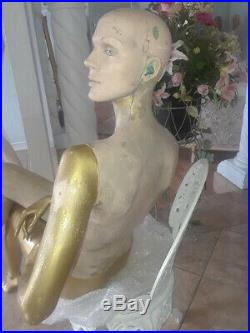 Vintage Mannequin Sitting Dianne Dewitt Rootstein sold as is