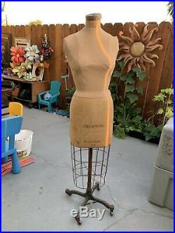 Vintage Palmenburg Cavanaugh Collapsible Dress Form Mannequin Model 1954