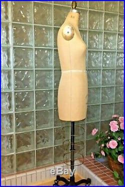 Vintage Professional Wolf Dress Form Size 10 Mannequin Model 1983