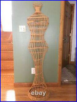Vintage Wicker Mannequin Dress Form