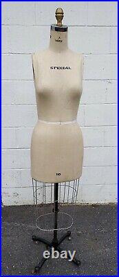 Vintage Wolf Dress Form Mannequin Size 10 New York