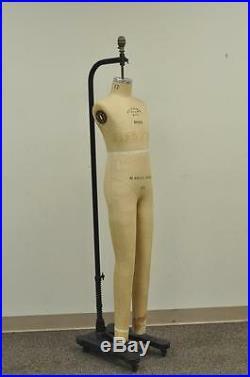 Vintage Wolf Model 1985 Boys 12 Dress Form Mannequin Child Girl Cast Iron Stand