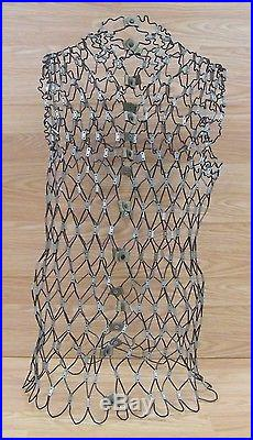 Vintage Women's Adjustable Snaps Wire Dress Form Only Without Stand READ