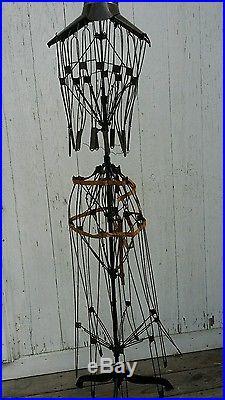 Vintage adjustable wire mannequin dress form circa 1890
