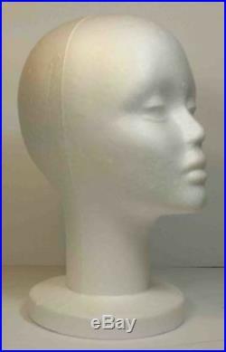 Wig Female Styrofoam Head Foam Mannequin Display 12 (6pcs)