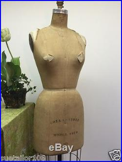 Wolf Model Form Co Size 10 Dress Form Vintage Model 1973 Collapsible Made in USA
