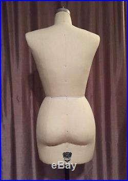 Wolf Model Form Co Size 8 (12) Dress Form Model 2000 Collapsible EUC Made in USA